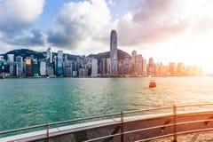 Hong Kong sikt av Victoria Harbor Arkivbild