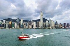 Hong Kong sikt av Victoria Harbor, Fotografering för Bildbyråer