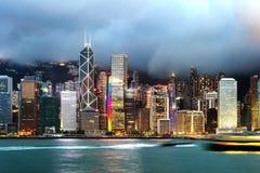 Hong Kong sikt av Victoria Harbor Royaltyfri Bild