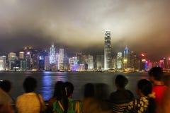 Hong Kong sikt av Victoria Harbor Royaltyfri Fotografi