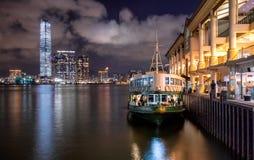 Hong Kong sikt från hamnen Fotografering för Bildbyråer