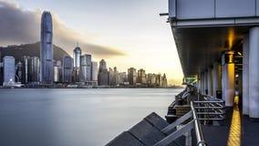 Hong Kong sikt från Tsim Sha Tsui Royaltyfri Fotografi