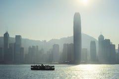 Hong Kong silhouette Stock Photos