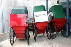 Hong Kong sista rickshaw Arkivfoton