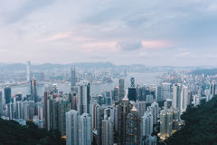 Hong Kong sky line. View from the Peak Stock Images