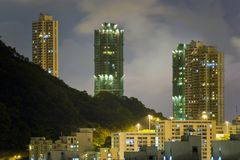 Hong Kong Sky at Night Royalty Free Stock Photos