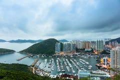 Hong Kong skyddtyphoon arkivfoton