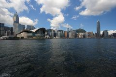 Hong Kong Skyline. In the afternoon royalty free stock image