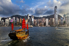 Hong Kong Skyline Stockfoto