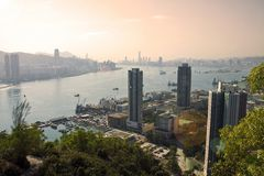 Hong Kong Skyline. View of Hong Kong skyline Stock Photo