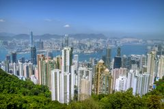 Hong Kong Skyline. Seen from Peak Royalty Free Stock Image