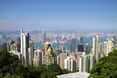 Hong Kong Skyline. Seen from Peak Stock Image