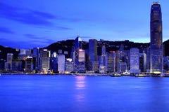 Hong Kong Skyline. At Night Royalty Free Stock Photos