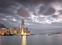 Hong Kong Skyline. At magic hour Royalty Free Stock Photography