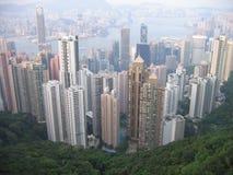 Hong Kong Skyline. Seen from Victoria Peak stock photos