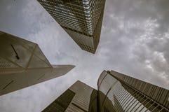 Hong kong skyline. Magnificent skyscrapers of hong kong along victoria harbor stock photography