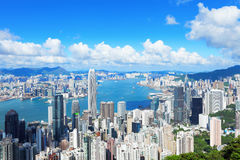 Hong Kong-Skyline Stockbilder