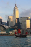 Hong Kong Skyline Royaltyfria Bilder