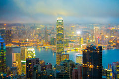 Hong Kong Skyline Stock Foto's