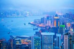 Hong Kong Skyline Stock Afbeeldingen