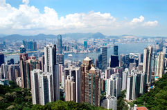 Hong Kong Skyline. Seen from Victoria Peak stock photography