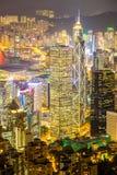 Hong Kong Skyline aéreo Fotografía de archivo libre de regalías
