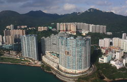 Hong Kong skyline from above Royalty Free Stock Photography