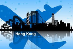 Hong Kong skyline royalty free illustration