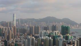Hong Kong Skyline bij 2018 stock videobeelden