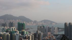 Hong Kong Skyline bij 2018 stock footage