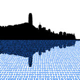 Hong Kong skyline with binary Stock Images