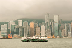 Hong Kong skyline with boats Royalty Free Stock Image