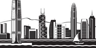 Free Hong Kong Skyline By Day Royalty Free Stock Image - 109383616