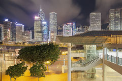 Hong Kong Skyline by Central Pier Royalty Free Stock Photography