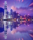 Hong Kong Skyline. Hong Kong, China skyline from Victoria Harbor royalty free stock photo