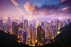 Hong Kong Skyline. Hong Kong, China skyline from Victoria Peak stock photos
