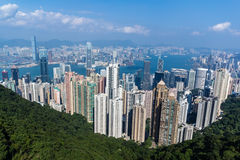 Hong Kong Skyline, Cina Immagine Stock