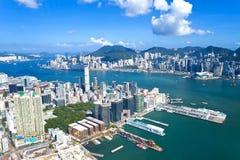 Hong Kong skyline at day Royalty Free Stock Photos