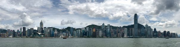 Hong Kong skyline during the day. Royalty Free Stock Photography