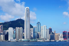 Hong Kong skyline. At day time stock photography