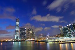 Hong Kong skyline at dusk Royalty Free Stock Photography