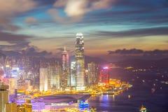 Hong Kong Skyline at Dusk Stock Images