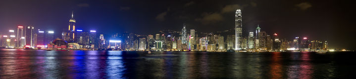 Hong kong skyline at evening Stock Photography