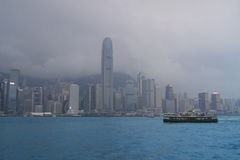 Hong Kong skyline in the evening Stock Photography