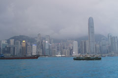 Hong Kong skyline in the evening Royalty Free Stock Image