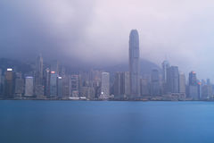 Hong Kong skyline in the evening Royalty Free Stock Photography