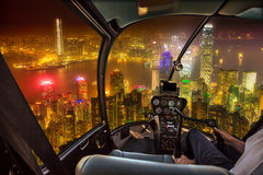Hong Kong skyline flight Stock Photos