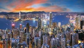 Free Hong Kong Skyline From Victoria Peak At Night, China Stock Image - 178167161