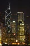 Hong Kong skyline II. Hong Kong skyline vertical orientation Royalty Free Stock Image