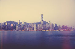 Hong Kong skyline in the morning Stock Photo